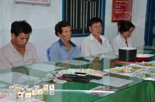 Công an huyện Châu Thành triệt xóa tụ điểm đánh bạc