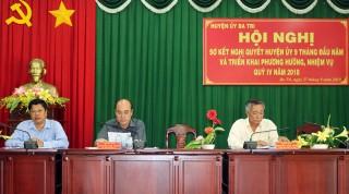 Chợ Lách, Ba Tri sơ kết thực hiện nghị quyết 9 tháng năm 2018