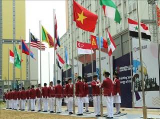Lễ thượng cờ của đoàn thể thao người khuyết tật Việt Nam tại Asian Para Games 2018