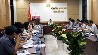 Họp liên tịch chuẩn bị Kỳ họp thứ 8 HĐND tỉnh, khóa IX