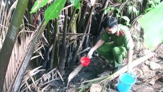 Kiểm tra cơ sở xả thải bẩn gây môi trường