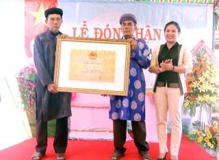 Đón nhận bằng xếp hạng Di tích lịch sử văn hóa cấp tỉnh Đình thần Phú Khánh