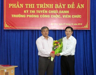Ông Nguyễn Văn Nhân trúng tuyển chức danh Trưởng phòng Công chức, viên chức