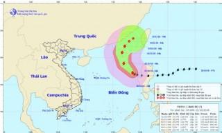 Diễn biến bão số 7 trên Biển Đông