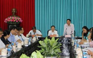 Thường trực Tỉnh ủy làm việc với Giám đốc Đại học Quốc gia TP. Hồ Chí Minh