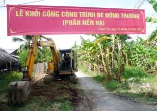 Thạnh Trị thực hiện 3 tuyến đường nông thôn hưởng ứng Đề án số 3333 của UBND tỉnh
