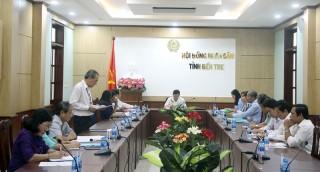 Thống nhất nội dung thảo luận tại Kỳ họp thứ 9, HĐND tỉnh khóa IX