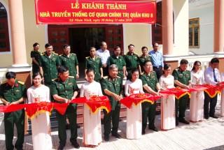 Khánh thành Nhà truyền thống Cơ quan Chính trị Quân khu 8