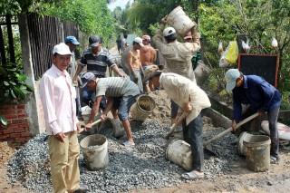 Lộc Thuận đầu tư hơn 10 tỷ đồng xây dựng đường nông thôn