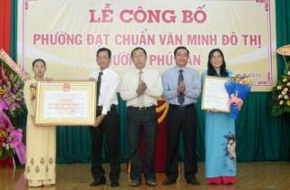 Phú Tân được công nhận đạt chuẩn phường văn minh đô thị