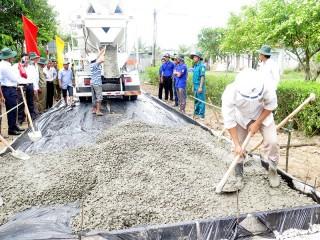 Chuẩn bị nền hạ khởi công các công trình giao thông nông thôn