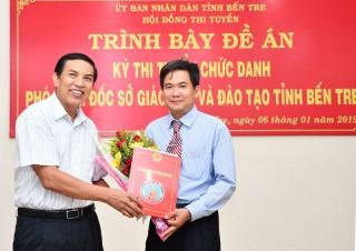 Ông Bùi Minh Nhựt trúng tuyển Phó giám đốc Sở Giáo dục và Đào tạo