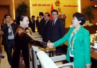 Chủ tịch Quốc hội Nguyễn Thị Kim Ngân tiếp Chủ tịch Nhóm nghị sĩ hữu nghị Hàn Quốc - Việt Nam