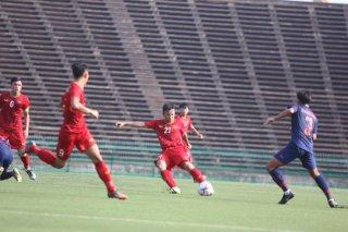 U22 Việt Nam áp đảo U22 Thái Lan nhưng không ghi được bàn thắng