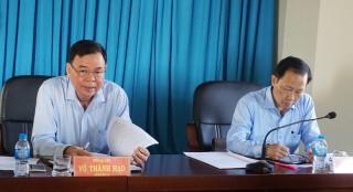 Bí thư Tỉnh ủy làm việc với Huyện ủy Thạnh Phú