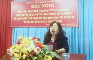 Đảng ủy Khối Doanh nghiệp tỉnh: Học tập, quán triệt các nghị quyết, chỉ thị của Trung ương, tỉnh