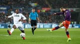 Vòng tứ kết FA Cup: Man City lội ngược dòng thắng Swansea 3-2