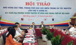 Khai mạc hội thảo báo Đảng khu vực miền Trung và Tây Nguyên