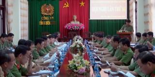 Hội nghị Ban Chấp hành Đảng bộ Công an tỉnh lần thứ 16