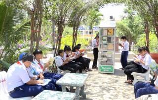 Đưa vào hoạt động thư viện xanh tại Trường THCS Tạ Thị Kiều