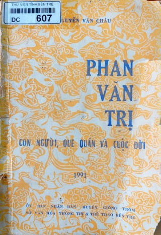 Tái bản sách về Phan Văn Trị