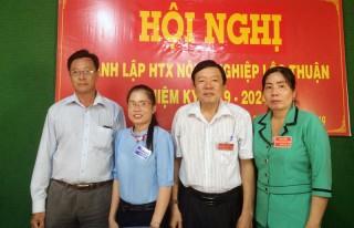 Thành lập Hợp tác xã Nông nghiệp Lộc Thuận