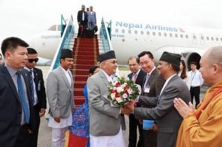 Thủ tướng Nepal bắt đầu thăm chính thức Việt Nam và dự Đại lễ Vesak 2019