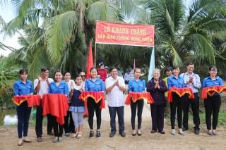 Xã Bình Thành khánh thành 5 cầu giao thông nông thôn