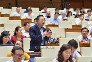 Đại biểu Quốc hội đơn vị tỉnh thảo luận việc thực hiện chính sách về đất đai