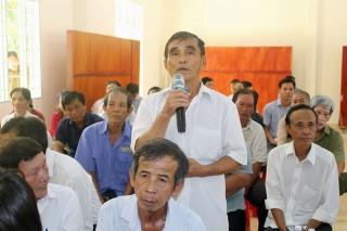 Đại biểu Quốc hội tiếp xúc cử tri tại các huyện, thành phố