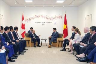 Thủ tướng Nguyễn Xuân Phúc gặp gỡ song phương với các lãnh đạo thế giới