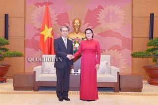 Chủ tịch Quốc hội Nguyễn Thị Kim Ngân tiếp Đại sứ Trung Quốc tại Việt Nam.