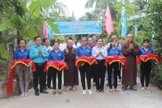 Khánh thành tuyến đường Hạnh Nguyện số 6 ấp Phú Nhơn, thị trấn Châu Thành