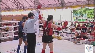 Nữ võ sĩ Huỳnh Hà Hữu Hiếu vô địch Muay thế giới hạng cân 45kg