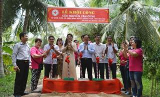 Khởi công xây cầu Nguyễn Văn Cửng, xã Châu Bình