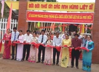 Phú Đức khánh thành công trình sửa chữa đền thờ liệt sĩ xã