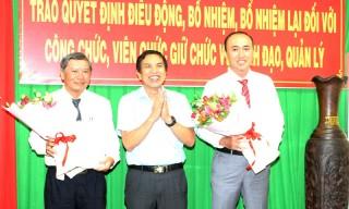 Trao quyết định bổ nhiệm, bổ nhiệm lại đối với cán bộ giữ chức vụ lãnh đạo, quản lý