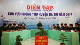 Khai mạc diễn tập khu vực phòng thủ huyện Ba Tri năm 2019