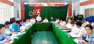 Đoàn kiểm tra 791 Tỉnh ủy làm việc với Ban Thường vụ Huyện ủy Ba Tri