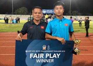 U15 Đông Nam Á 2019:  Đội tuyển U15 Việt Nam nhận giải thưởng Fair-play