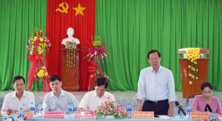 Bí thư Tỉnh ủy Phan Văn Mãi làm việc với Đảng ủy xã Tân Thanh Tây