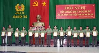 Triển khai quyết định về tổ chức bộ máy của các đơn vị trực thuộc Công an tỉnh