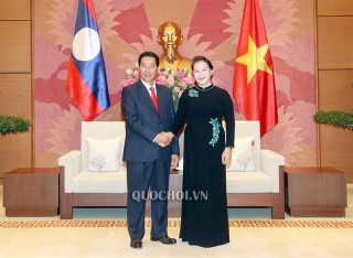 Chủ tịch Quốc hội Nguyễn Thị Kim Ngân tiếp Phó Chủ tịch Quốc hội nước CHDCND Lào