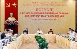 Tiểu ban Kinh tế - Xã hội tổ chức xin ý kiến các vị nguyên lãnh đạo