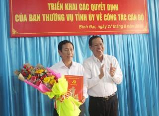 Ông Lê Văn Răng giữ chức Bí thư Huyện ủy Bình Đại