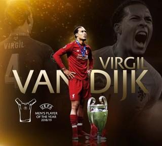 Virgil Van Dijk - Nam cầu thủ xuất sắc nhất mùa giải 2018/19 của UEFA