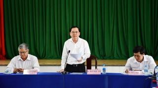 Phó bí thư Thường trực Tỉnh ủy Trần Ngọc Tam làm việc với Đảng ủy Phường 6