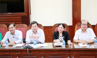 Phó chủ tịch UBND tỉnh Nguyễn Hữu Lập làm việc với Hiệp hội Du lịch đồng bằng sông Cửu Long