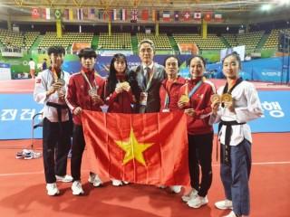 Đội tuyển Taekwondo Việt Nam giành Á Quân tại Đại hội Võ thuật thế giới Chungju năm 2019