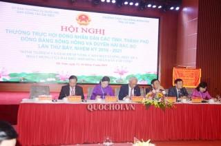 Phó Chủ tịch Quốc hội Uông Chu Lưu dự Hội nghị Thường trực HĐND các tỉnh, thành Đồng bằng sông Hồng và duyên hải Bắc Bộ lần thứ 7